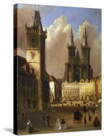 View of the Old Town of Prague with the Church of Our Lady before Tyn-Ferdinand Lepick-Stretched Canvas Print