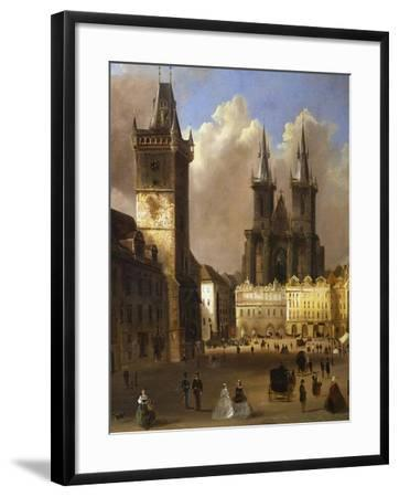 View of the Old Town of Prague with the Church of Our Lady before Tyn-Ferdinand Lepick-Framed Giclee Print
