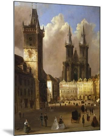 View of the Old Town of Prague with the Church of Our Lady before Tyn-Ferdinand Lepick-Mounted Giclee Print
