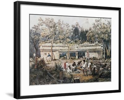 Remains of Temple of Tulum-John Lloyd Stephens-Framed Giclee Print