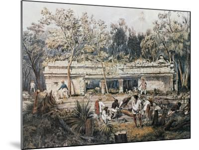 Remains of Temple of Tulum-John Lloyd Stephens-Mounted Giclee Print