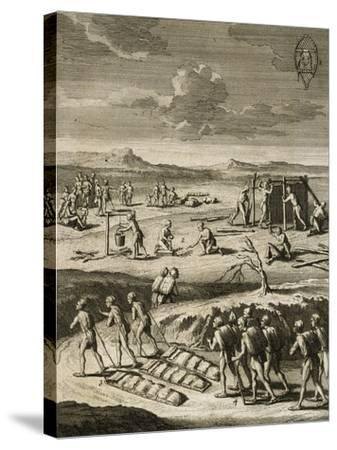 Nomad Camp in Canada-Joseph Francois Lafitau-Stretched Canvas Print