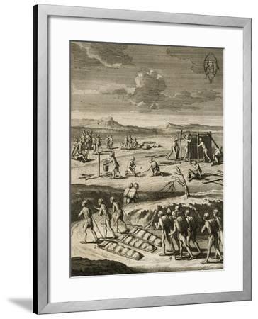 Nomad Camp in Canada-Joseph Francois Lafitau-Framed Giclee Print