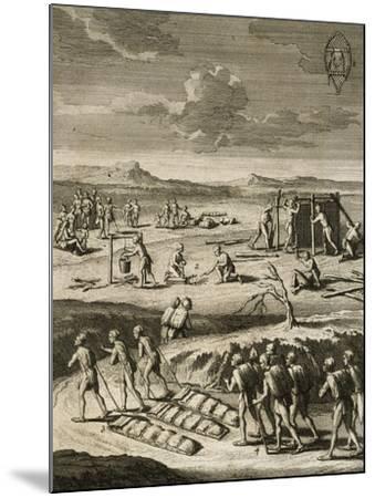 Nomad Camp in Canada-Joseph Francois Lafitau-Mounted Giclee Print