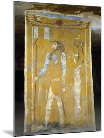 Wall Paintings from Tomb of Pa Nentwy, Bahariya Oasis, Giza, Egypt--Mounted Giclee Print