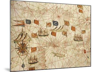 Nautical Chart of the Central-Eastern Mediterranean Sea-Calopodio da Candia-Mounted Giclee Print