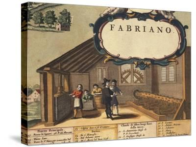Detail Representing Paper Industry of City of Fabriano-Georg Braun-Stretched Canvas Print