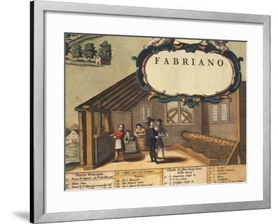 Detail Representing Paper Industry of City of Fabriano-Georg Braun-Framed Giclee Print