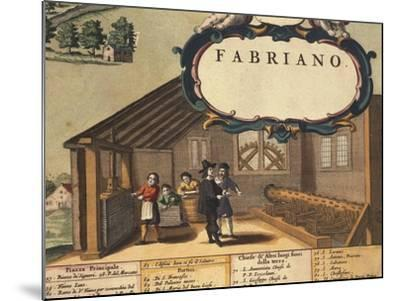 Detail Representing Paper Industry of City of Fabriano-Georg Braun-Mounted Giclee Print