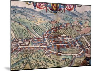 View of Serravalle Scrivia-Georg Braun and Franz Hogenberg-Mounted Giclee Print