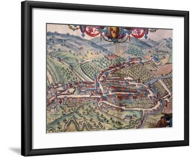 View of Serravalle Scrivia-Georg Braun and Franz Hogenberg-Framed Giclee Print