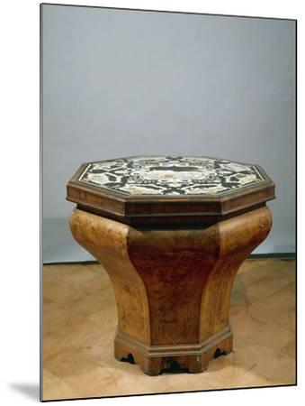 Inlaid Walnut Root Octagonal Table-Gerolamo Messina-Mounted Giclee Print