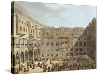 Mameluke Practice in Front of the Palace of Mourad Bey in Cairo-Luigi Mayer-Stretched Canvas Print