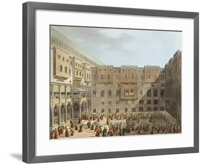 Mameluke Practice in Front of the Palace of Mourad Bey in Cairo-Luigi Mayer-Framed Giclee Print