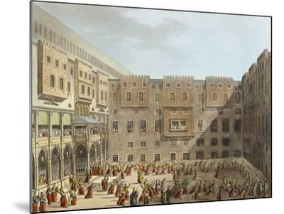 Mameluke Practice in Front of the Palace of Mourad Bey in Cairo-Luigi Mayer-Mounted Giclee Print