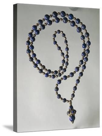 Lapis Lazuli Waist Necklace with Gold and Silver Elements-Mario Buccellati-Stretched Canvas Print