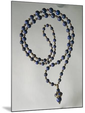 Lapis Lazuli Waist Necklace with Gold and Silver Elements-Mario Buccellati-Mounted Giclee Print