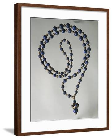 Lapis Lazuli Waist Necklace with Gold and Silver Elements-Mario Buccellati-Framed Giclee Print