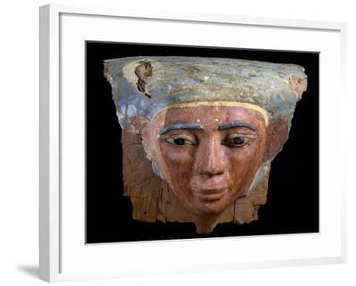 Upper Section of Male Sarcophagus, Polychrome Wood, Ramesside Period--Framed Giclee Print