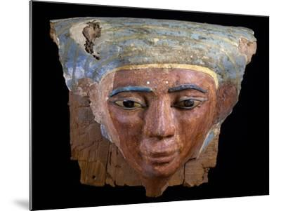 Upper Section of Male Sarcophagus, Polychrome Wood, Ramesside Period--Mounted Giclee Print