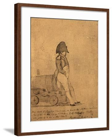 Napoleon on Board the Northumberland on its Way to St Helena by a British Officer--Framed Giclee Print