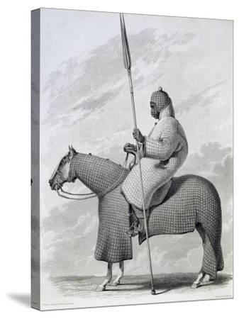 Lancer of Sultan of Begharmi by Finden-Dixon Denham-Stretched Canvas Print
