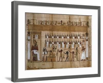 The Weighing of Souls, Chapter 125 of Book of Dead, Detail of Papyrus of Tasnakht--Framed Giclee Print