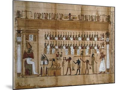 The Weighing of Souls, Chapter 125 of Book of Dead, Detail of Papyrus of Tasnakht--Mounted Giclee Print