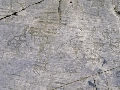 Italy, Lombardy, Brescia, National Park of Stone Carvings of Naquane, Camunian Rock Engravings--Framed Giclee Print