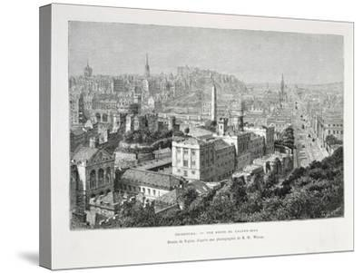 Princes Street and Castle of Holyrood from Nouvelle Geographie Universelle--Stretched Canvas Print