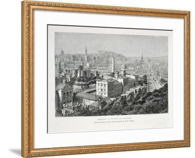 Princes Street and Castle of Holyrood from Nouvelle Geographie Universelle--Framed Giclee Print