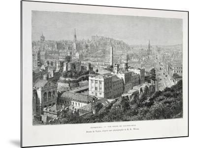 Princes Street and Castle of Holyrood from Nouvelle Geographie Universelle--Mounted Giclee Print