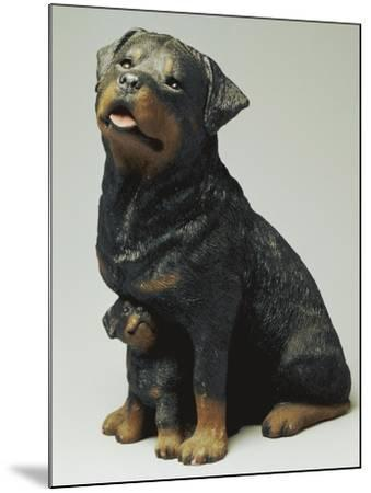 Rottweiler and Puppy-Sandra Brue-Mounted Giclee Print