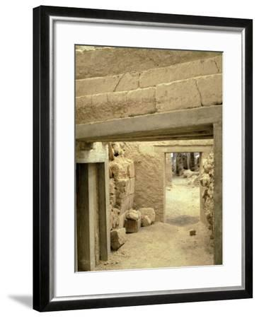 Excavations at the Archaeological Site of Akrotiri on Thera, Now Santorini, Greece--Framed Giclee Print