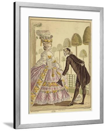 Meeting of the Knight Des Grieux and Manon Lescaut in Amiens-Sebastien Leclerc-Framed Giclee Print