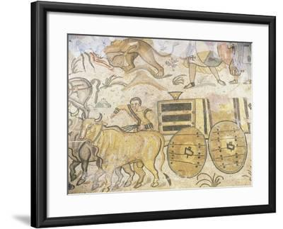 Wagon Drawn by Oxen--Framed Giclee Print