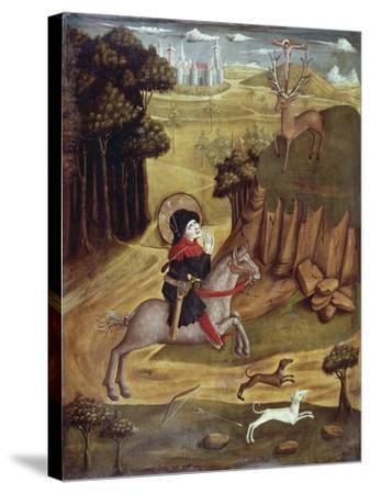 St Eustachio and Deer--Stretched Canvas Print