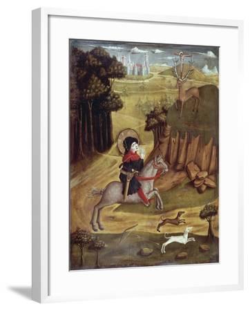 St Eustachio and Deer--Framed Giclee Print