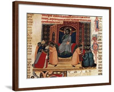 The Pope and the Emperor--Framed Giclee Print