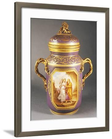Two-Handed Vase with Lid--Framed Giclee Print