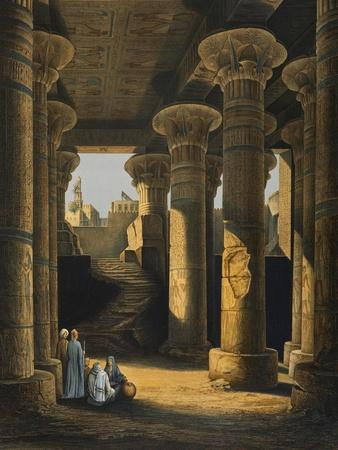 Great Hall of Columns of Temple of Esneh--Framed Giclee Print
