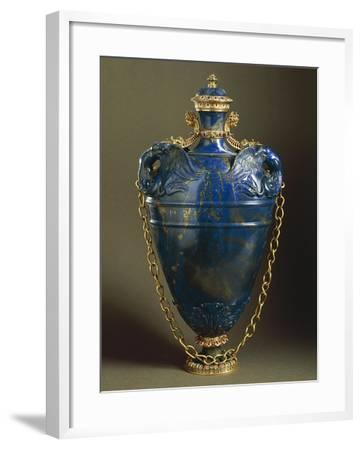 Lapis Lazuli Flask with Cover--Framed Giclee Print