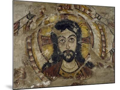 Head of Christ Supported by Two Angels--Mounted Giclee Print