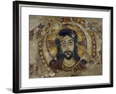 Head of Christ Supported by Two Angels--Framed Giclee Print