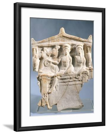 Pinax Fragment Depicting Funeral Banquet--Framed Giclee Print