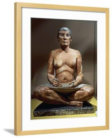Seated Scribe or Squatting Scribe--Framed Giclee Print
