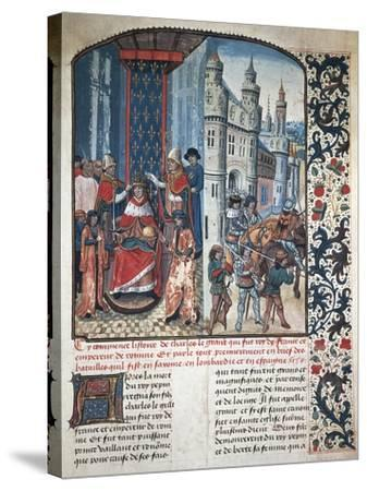 The Coronation of Charlemagne--Stretched Canvas Print