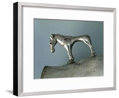 Silver Cup with Zoomorphic Handle--Framed Giclee Print