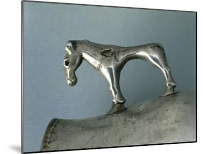 Silver Cup with Zoomorphic Handle--Mounted Giclee Print