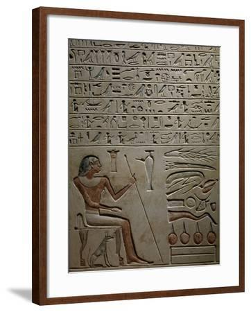 Stele of Samontuweser Depicting Deceased--Framed Giclee Print